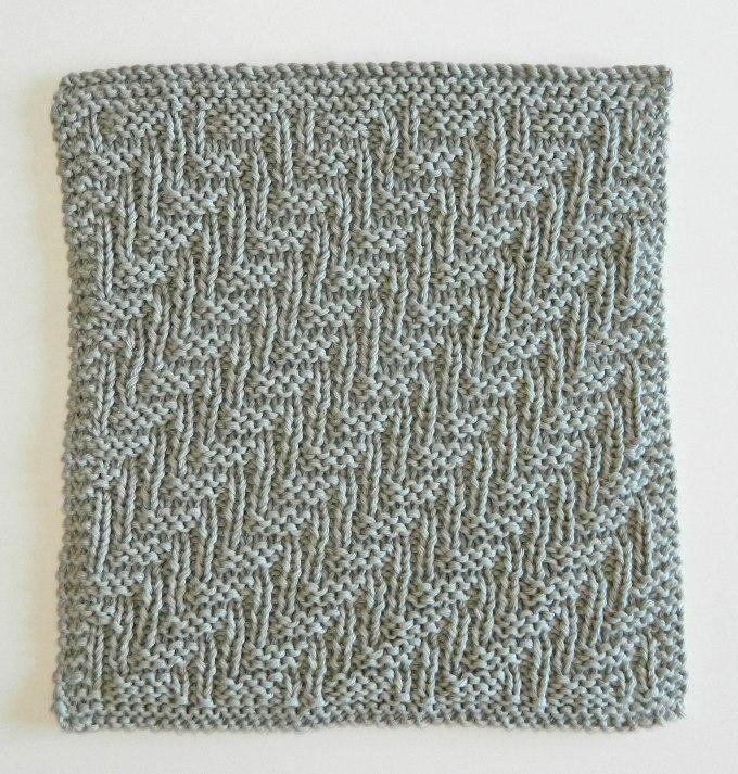 patrón de tejido fácil patron punto gratis trapo de cocina