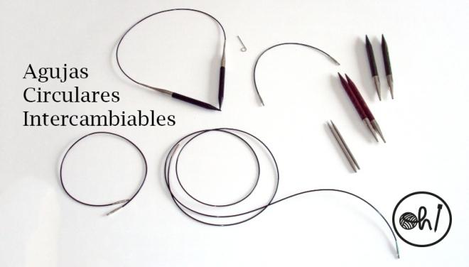 agujas circulares intercambiables