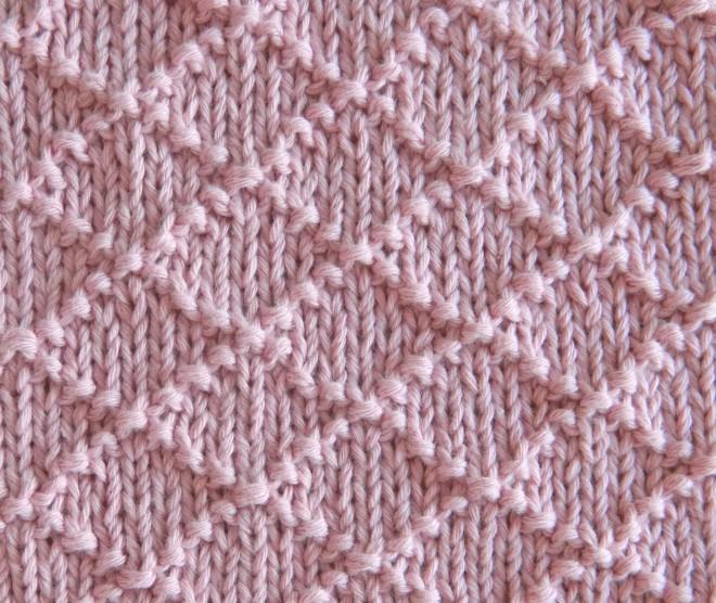 patrón de punto principiantes patrón de tejido fácil rombos