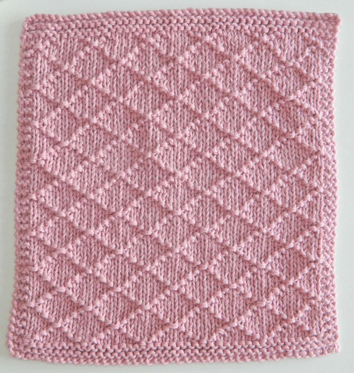 patrón de punto gratuito 12 bloques para navidad punto rombos tejido
