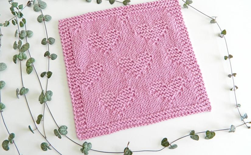 VALENTINES: patrón de tejido para trapos o bloques demanta