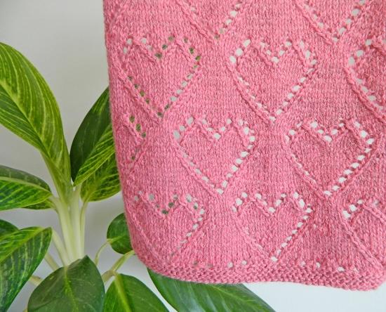 CORAZONES lace, tejido san valentín, patrón de punto lace, patrón de tejido lace, mystery lace blanket KAL en español, ohlalana en español, ohlalanadesigns, tutorial tejido gratuito